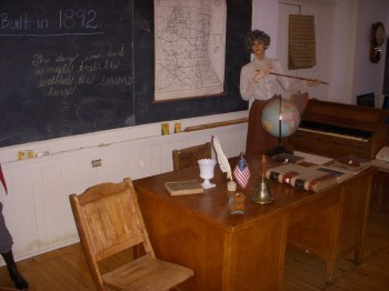 teachers desk in one room school large